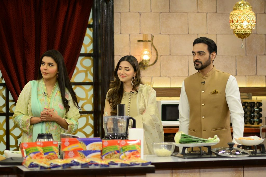 Chupke Chupke Stars Aymen Saleem And Arsalan Naseer At Shan-e-Suhoor