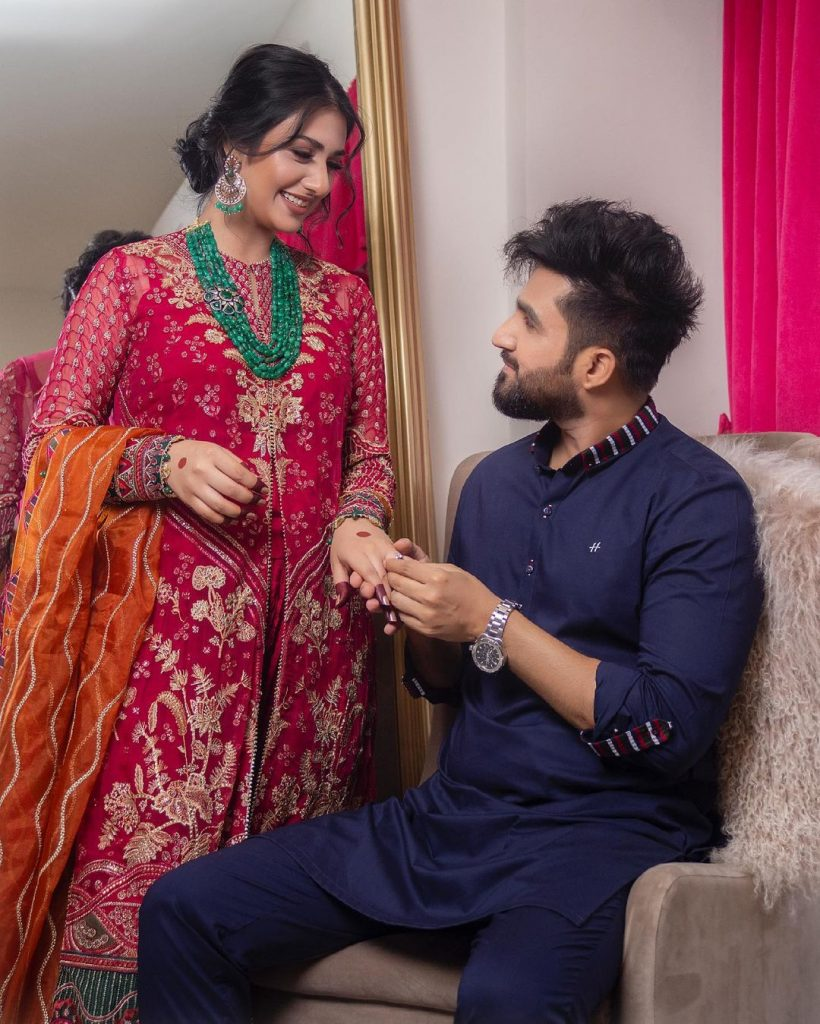 Sarah Khan And Falak Shabir Beautiful Pictures From Eid Day 2