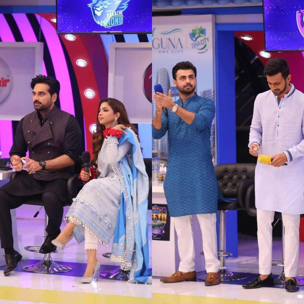 Amazing Shots Of Farhan Saeed And Sonya Hussyn From The Set Of JPL