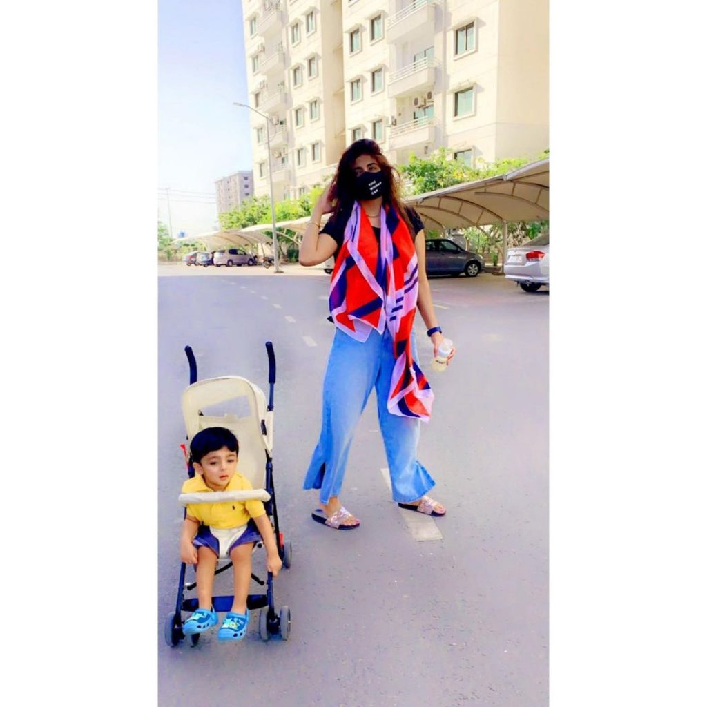 Fatima Sohail With Her Son Mehmat Haider - Latest Pictures