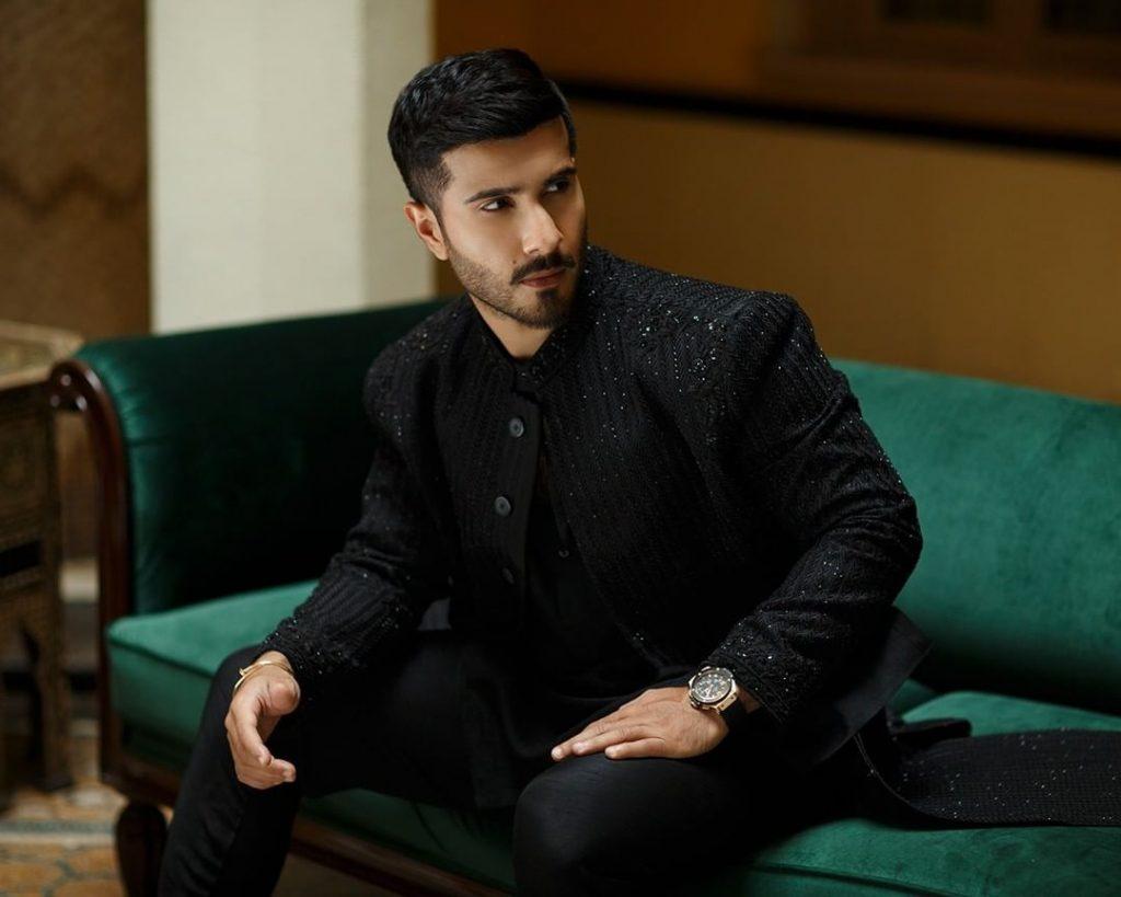 Faiza Saqlain's First Ever Men's Collection Featuring Feroze Khan