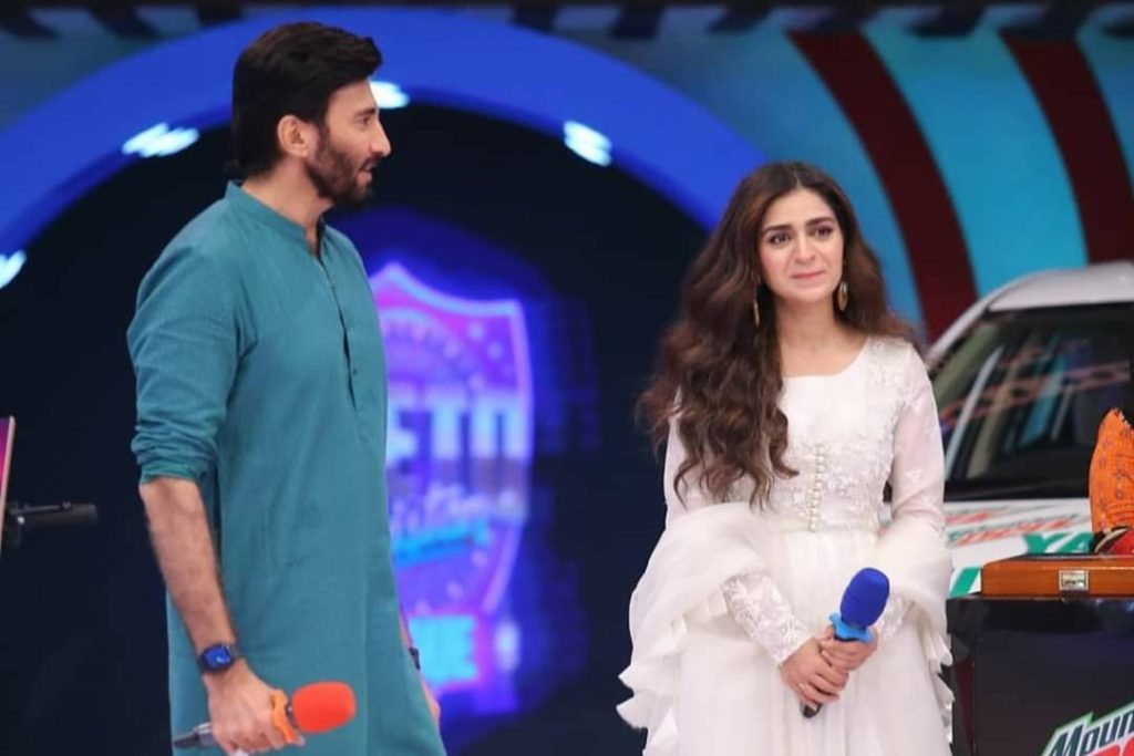 Beautiful Pictures Of Hajra Yamin And Faizan Sheikh From The Set Of JPL