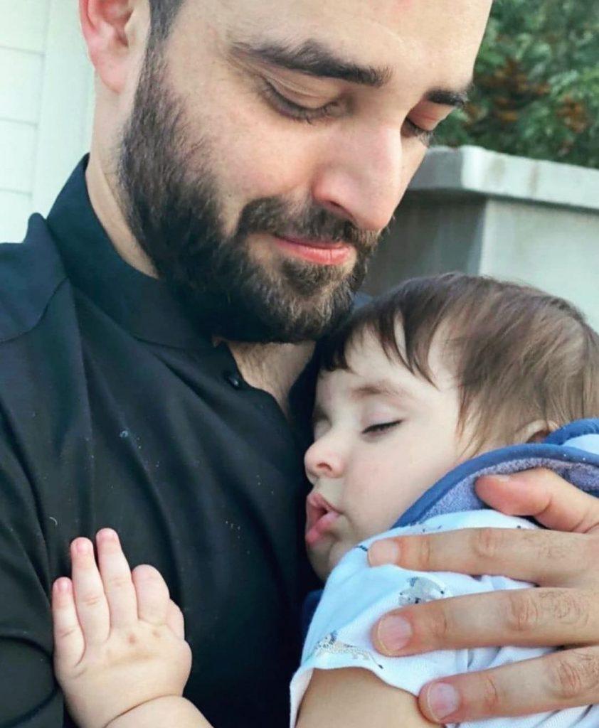 Adorable Pictures Of Hamza Ali Abbasi And Naimal Khawar's Son