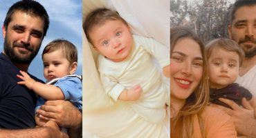 Adorable Pictures Of Hamza Ali Abbasi And Naimal Khawar's Son