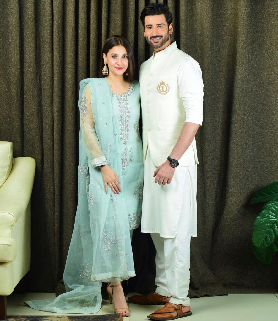 Aagha Ali And Hina Altaf Celebrated Their First Wedding Anniversary