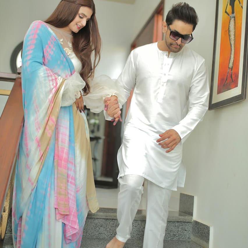 Hira Mani With Her Husband- Beautiful Eid Photoshoot
