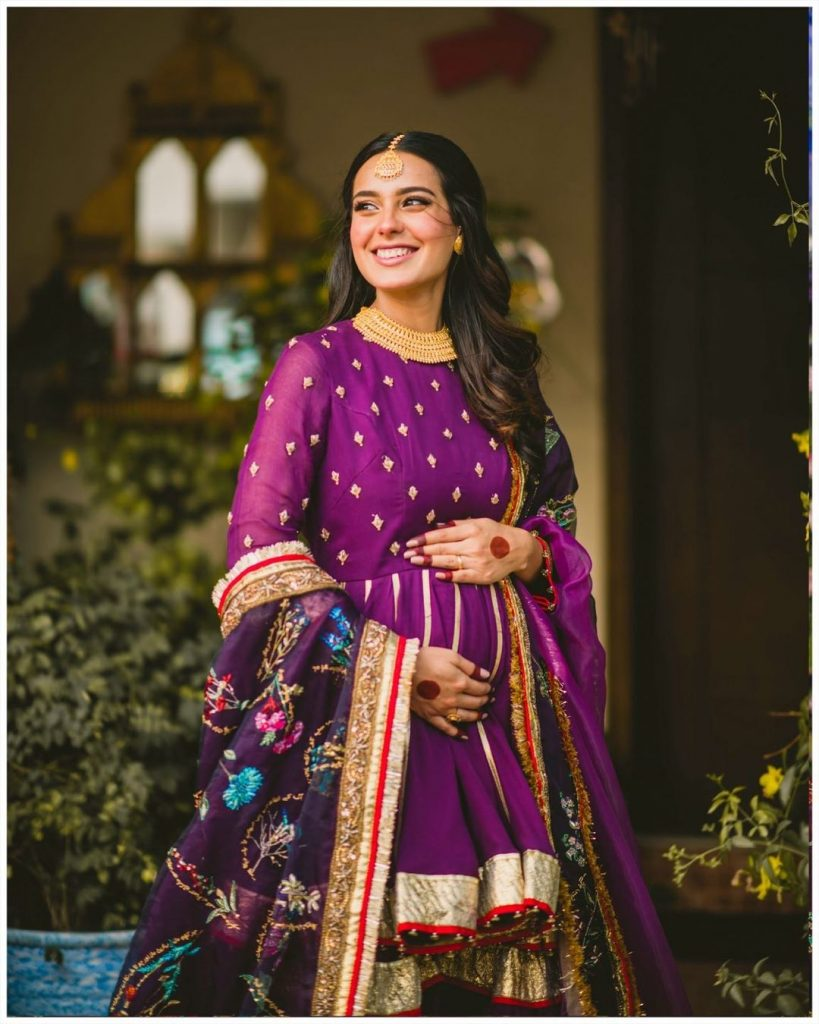 Iqra Aziz's Bespoke Outfit Had 100 Special Messages Handcrafted On It