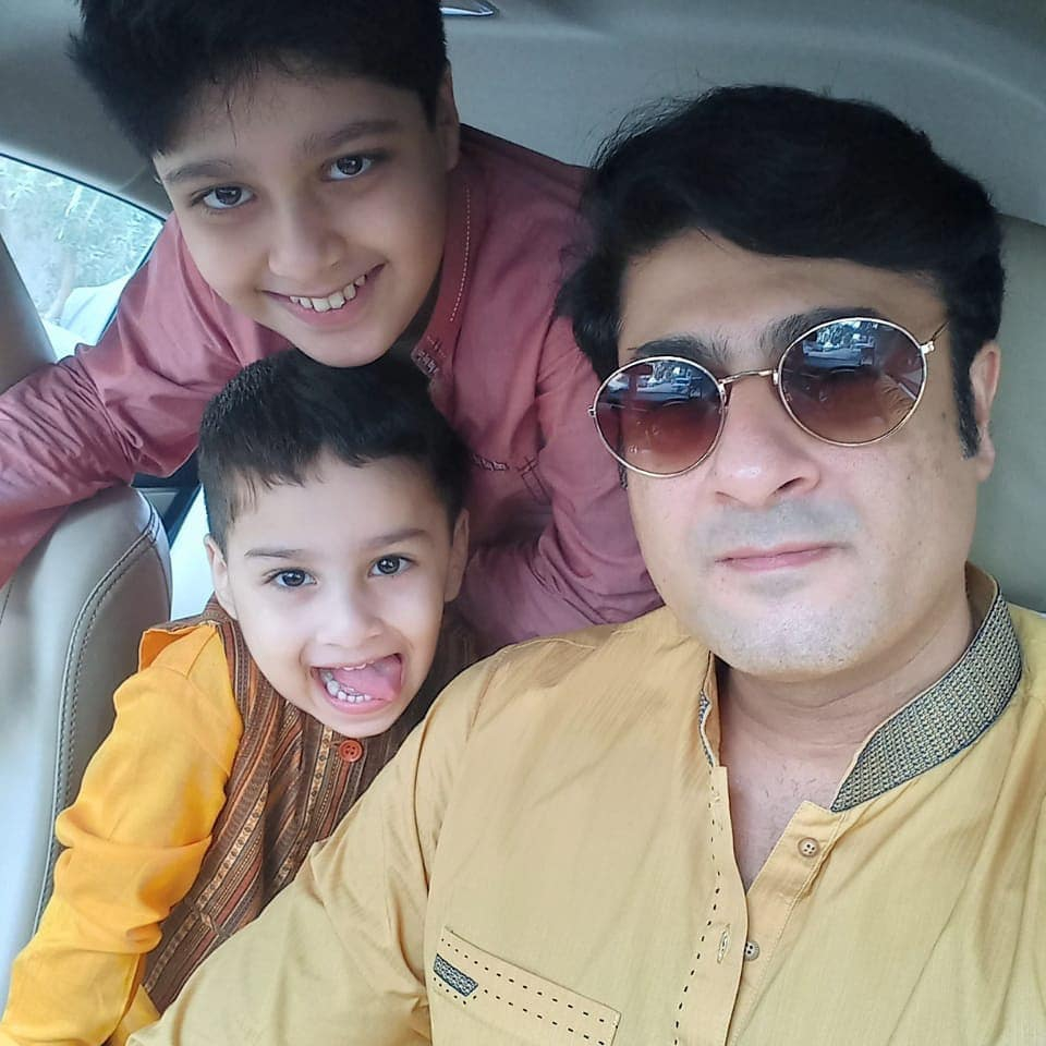 Kamran Jilani Eid Pictures with Family