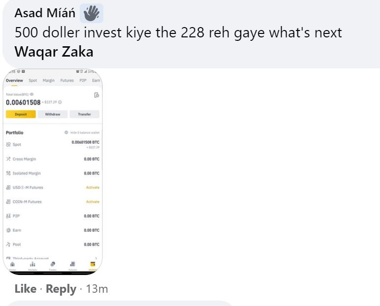 Waqar Zaka Group Members Lose Thousands of Dollars in Crypto