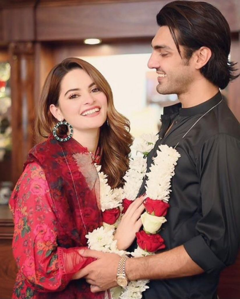 Minal Khan and Ahsan Mohsin Shared Unseen Pictures From Their Baat Paki