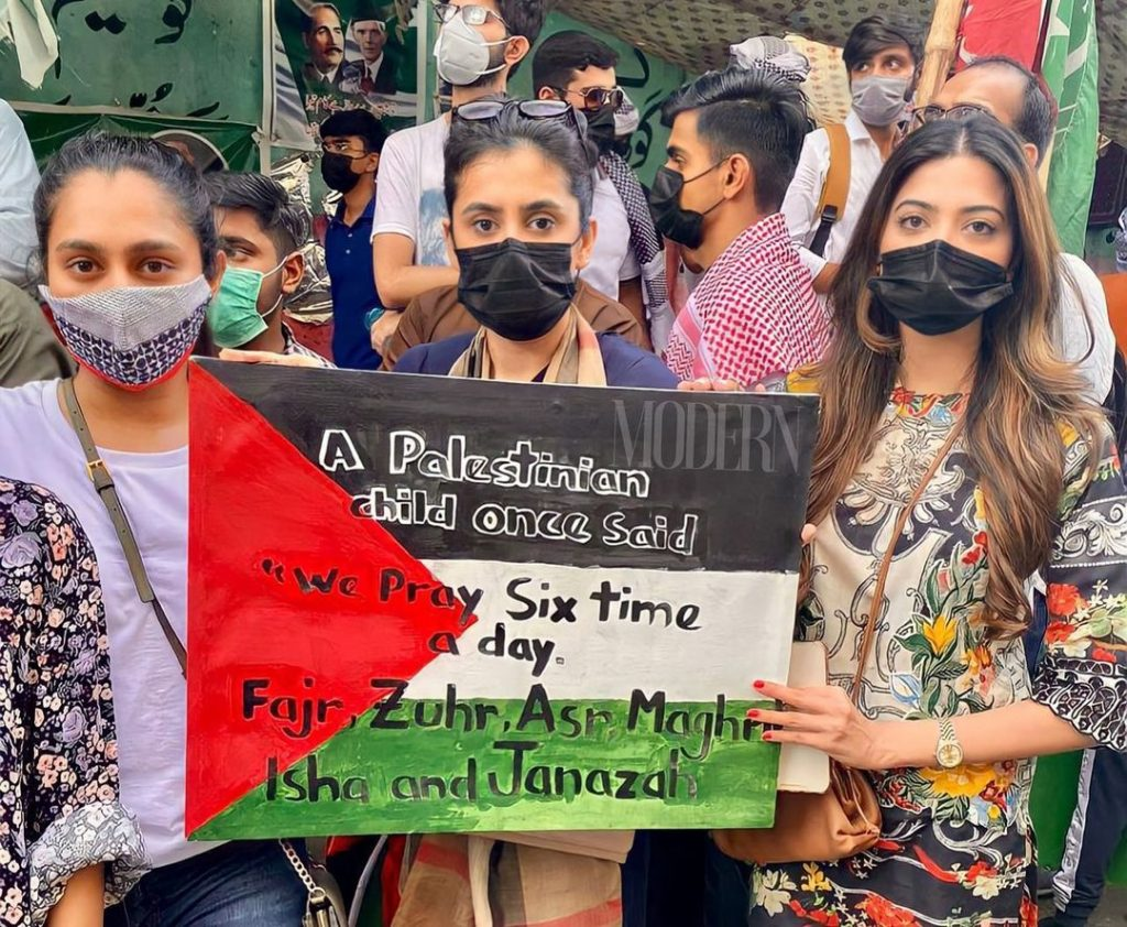 Celebrities Spotted At Protest Outside Karachi Press Club