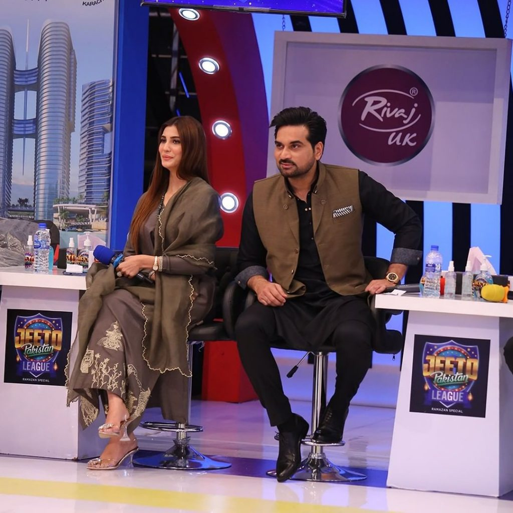 Portraits Of Nazish Jahangir And Sami Khan From The Set Of JPL