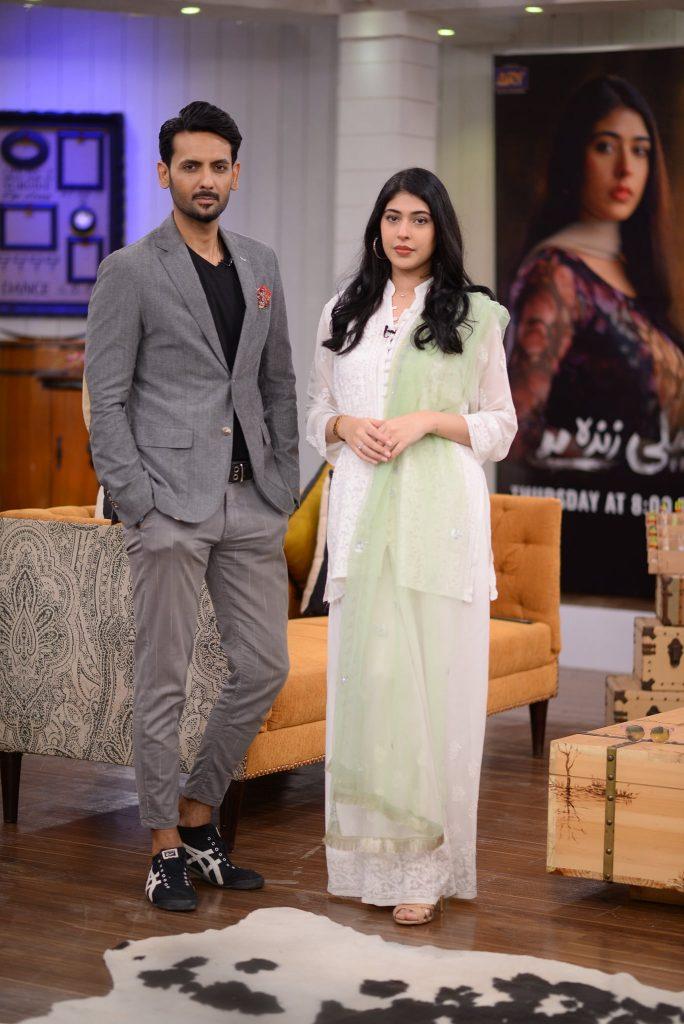 "Cast Of Drama Serial ""Neeli Zinda Hai"" At GMP"