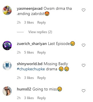 Chupke Chupke Last Episode - Public Reaction