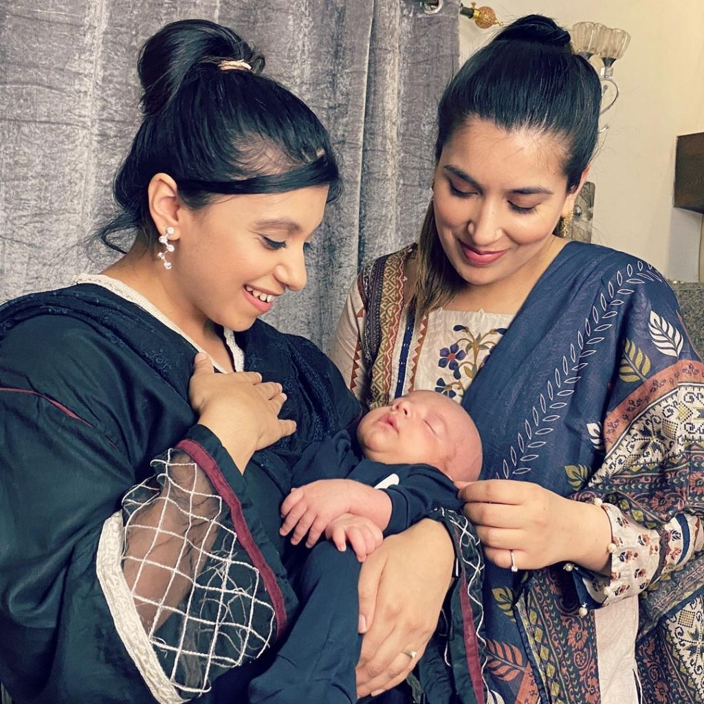 Rahim Pardesi Shared Adorable Pictures Of His New Born Baby With Wives