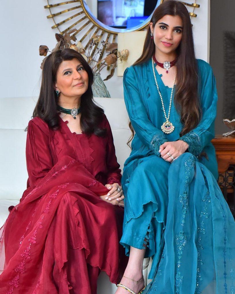Rubina Ashraf With Her Daughter Minna Tariq- Adorable Pictures