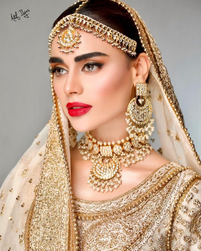 Sadaf Kanwal Dolled Up As A Traditional Bride By Akif Ilyas