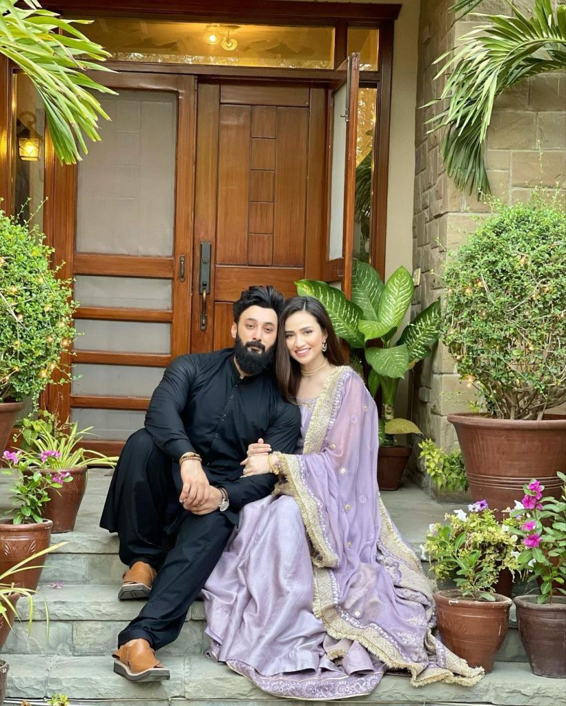 Sana Javed and Umair Jaswal Eid Day Pictures