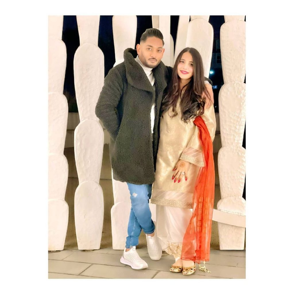 Saniya Shamshad's Beautiful Picture With Her Husband From Eid
