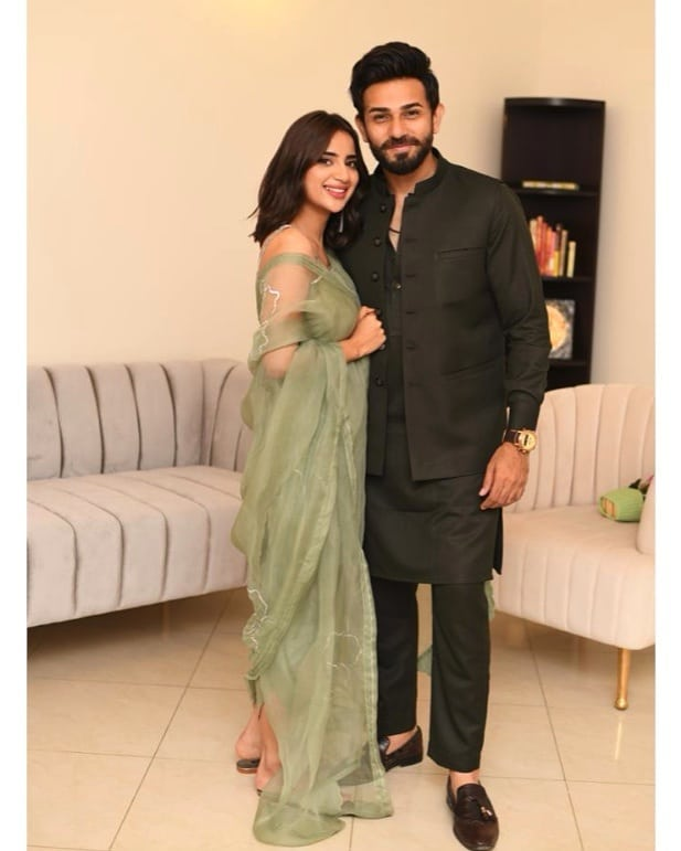 Love Birds Saboor Aly And Ali Ansari Celebrated Their First Eid Together
