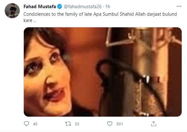 Sumbul Shahid Passes Away After Fighting A Battle With Covid