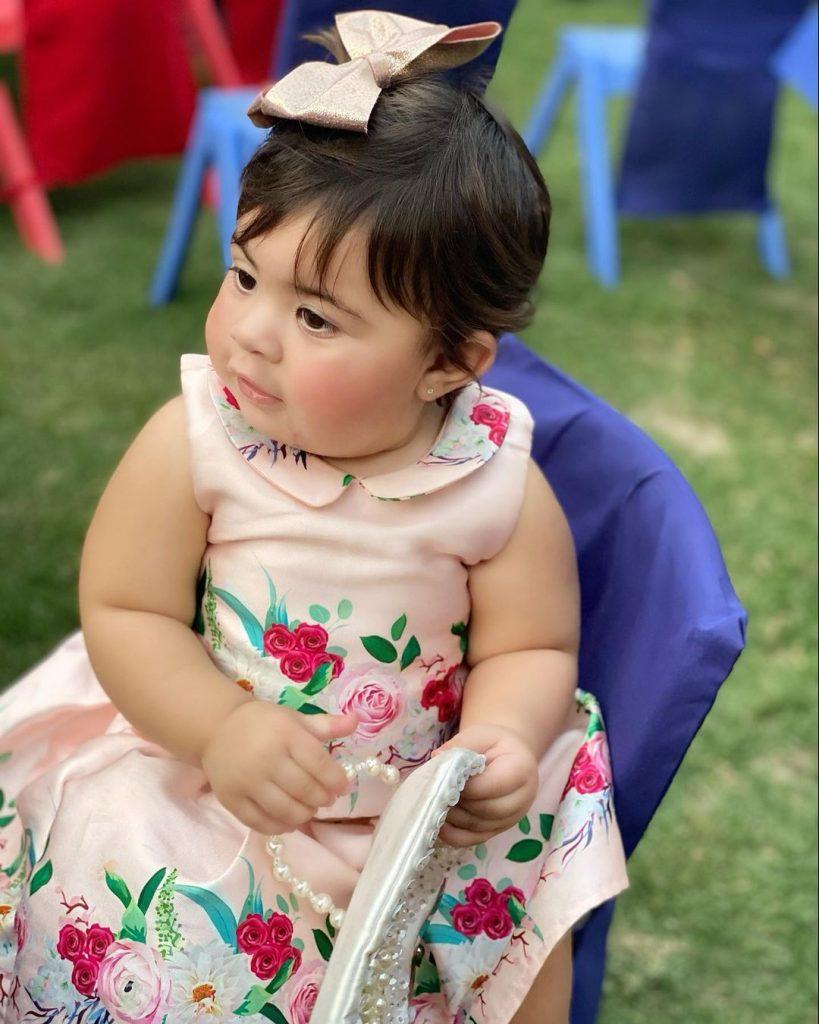 Wahab Riaz Celebrated First Birthday Of His Daughter Hoorain