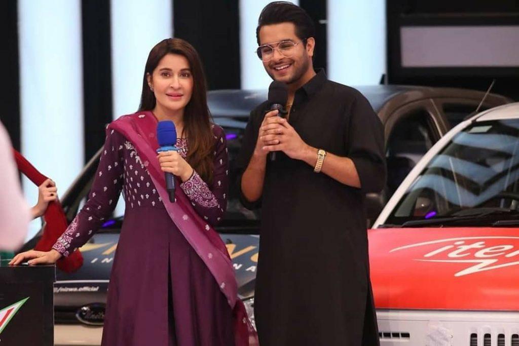 Yumna Zaidi And Asim Azhar At The Set Of JPL