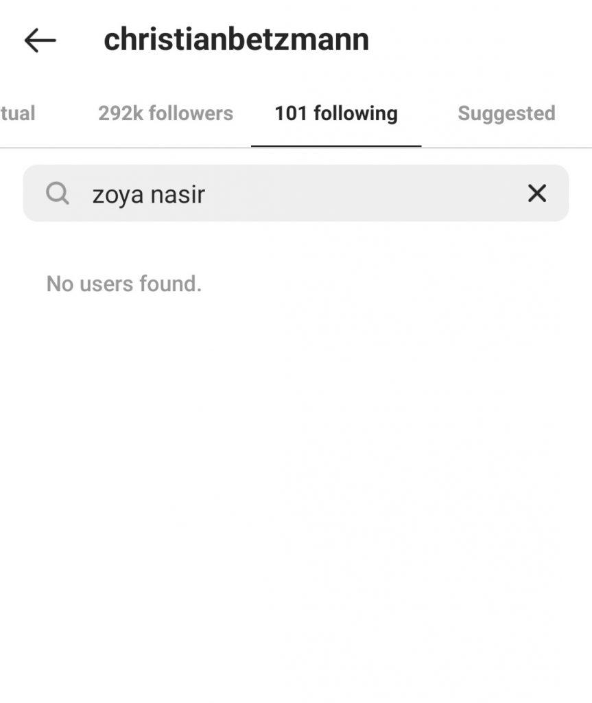 What's Happening Between Zoya Nasir And Christian Betzmann?