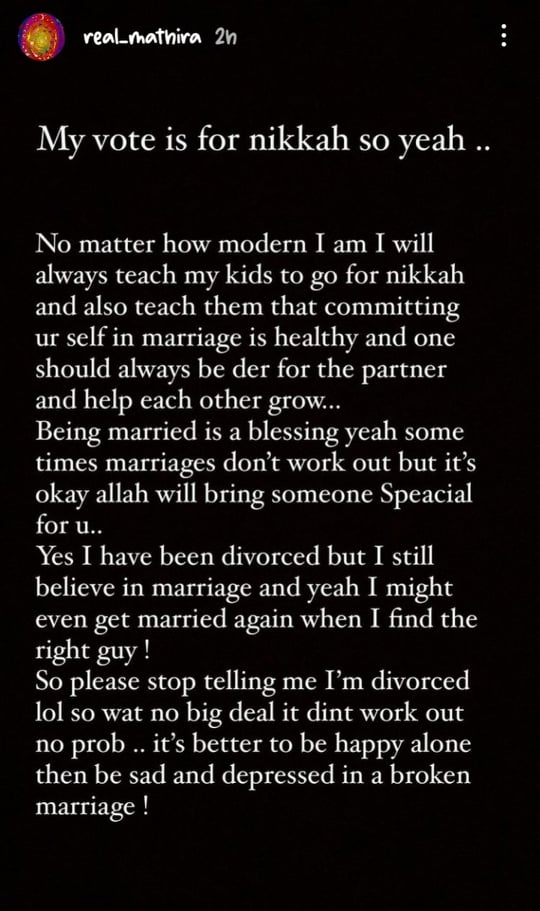 Mathira Shares Her Views After Malala's Stance On Marriage
