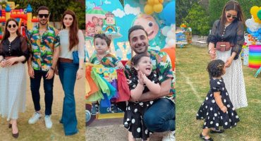 Aiman Khan Spotted At The Birthday Party Of Humayun Alamgir's Son