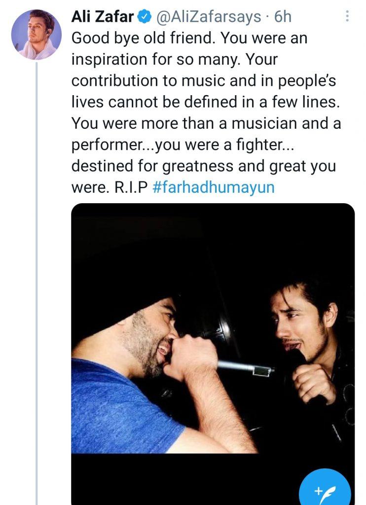 Celebrities Extend Condolences On Farhad Humayun's Death - Share Memories