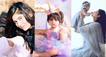 Adorable Pictures Of Sanam Baloch With Her Daughter