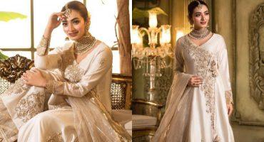 Nawal Saeed Beautiful Photos in Off-White & Gold Ensemble