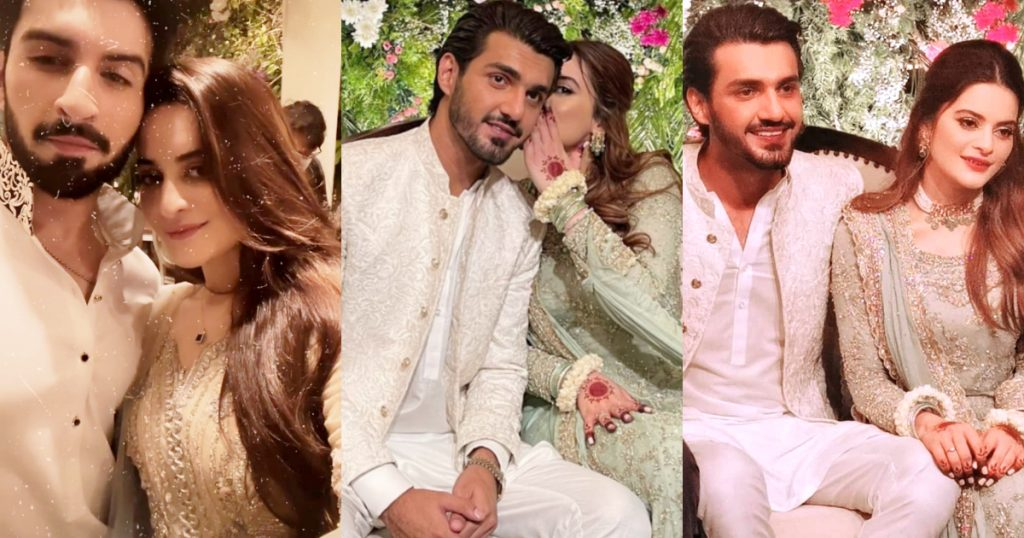 Minal Khan And Ahsan Mohsin Ikram Engagement Pictures