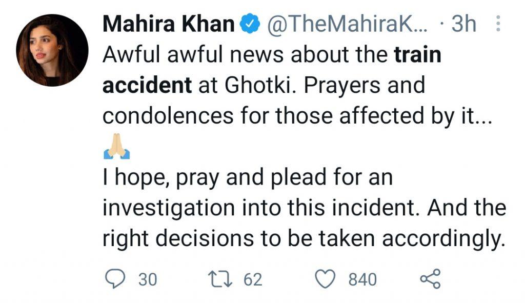 Ghotki Train Incident - Celebrities Reaction