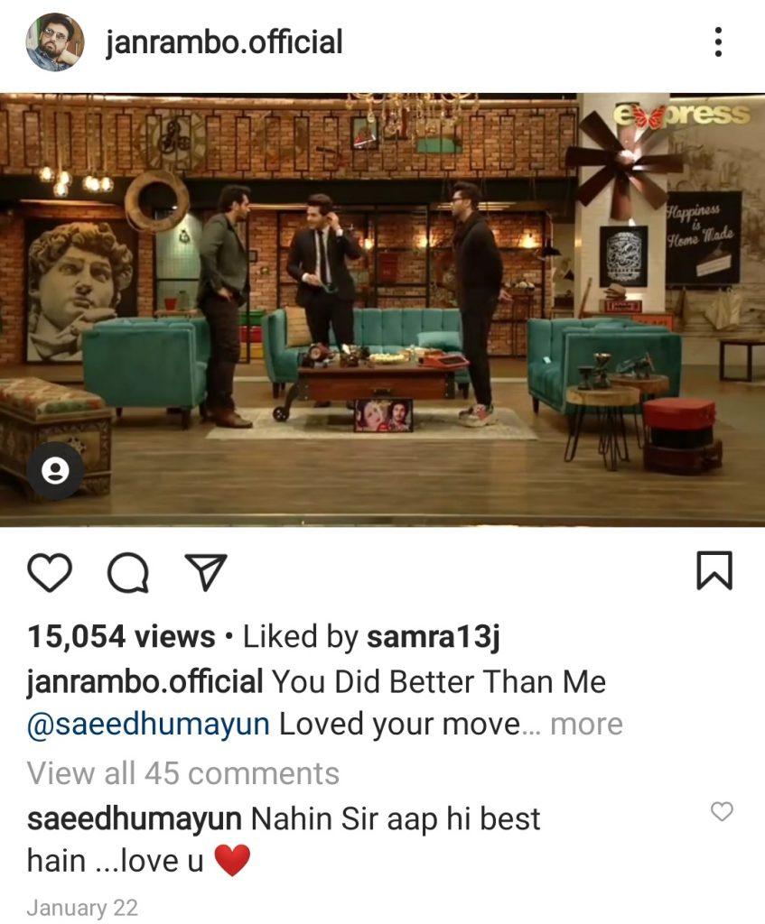 Here Is Why Afzal Khan Aka Jan Rambo Praised Humayun Saeed