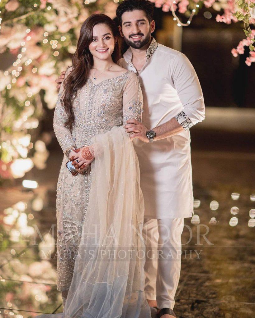 Aiman Khan And Muneeb Butt At Minal Khan's Engagement