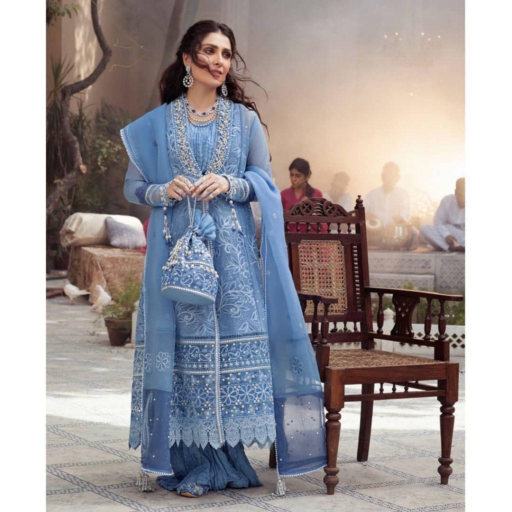 "Mushq Festive Chikankari Collection ""Daastan"" Featuring Ayeza Khan"