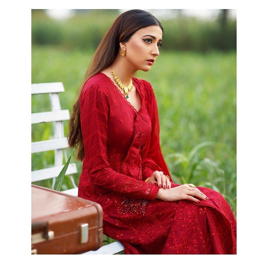 Qalamkar Official's Latest Eid Collection Featuring Aymen Saleem