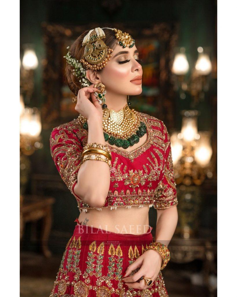 Azekah Daniel Stuns In The Bridal Attire By Ali Xeeshan Theater Studio