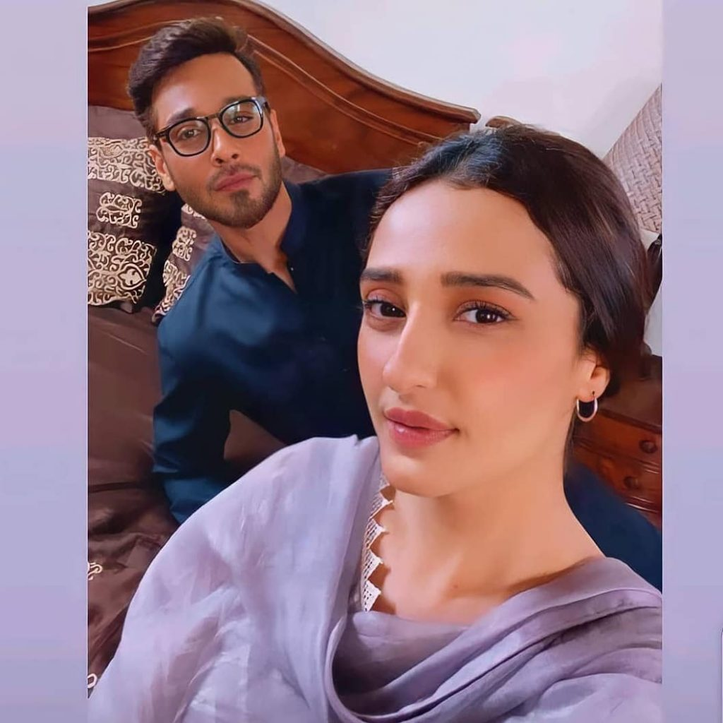 BTS Clikcs From The Set Of Drama Serial Dil-e-Momin