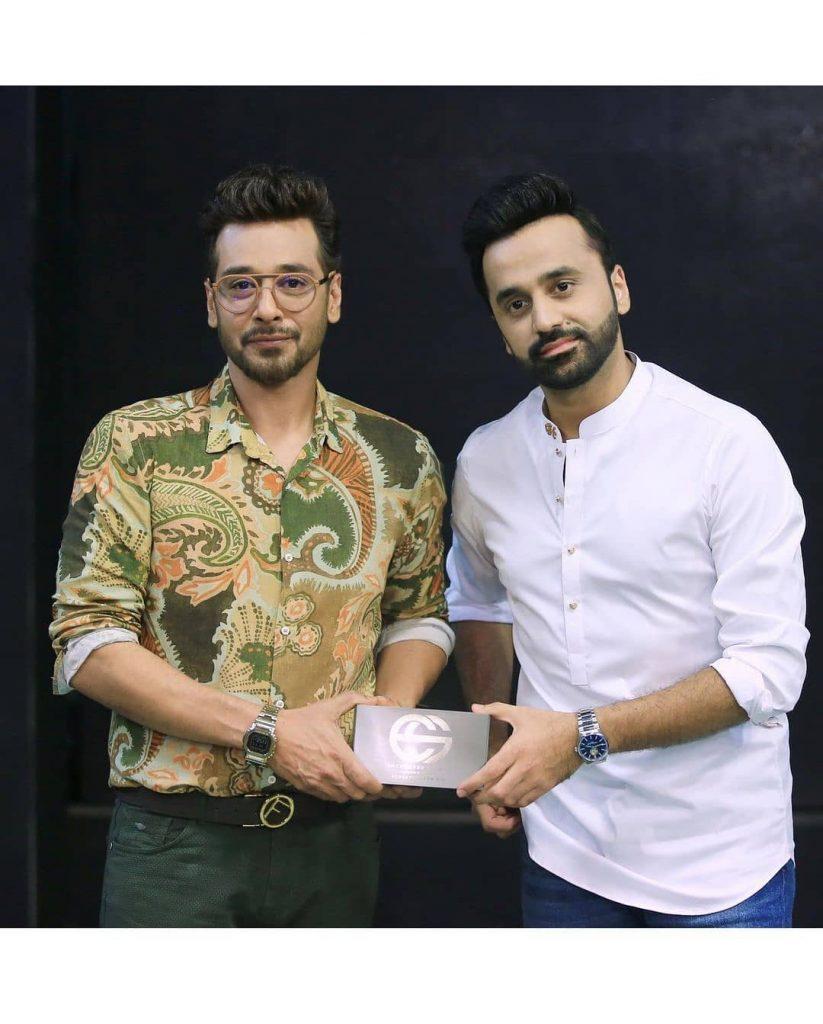 """Faysal Quraishi And Aijaz Aslam At The Set Of """"Har Lamha Purjosh"""""""