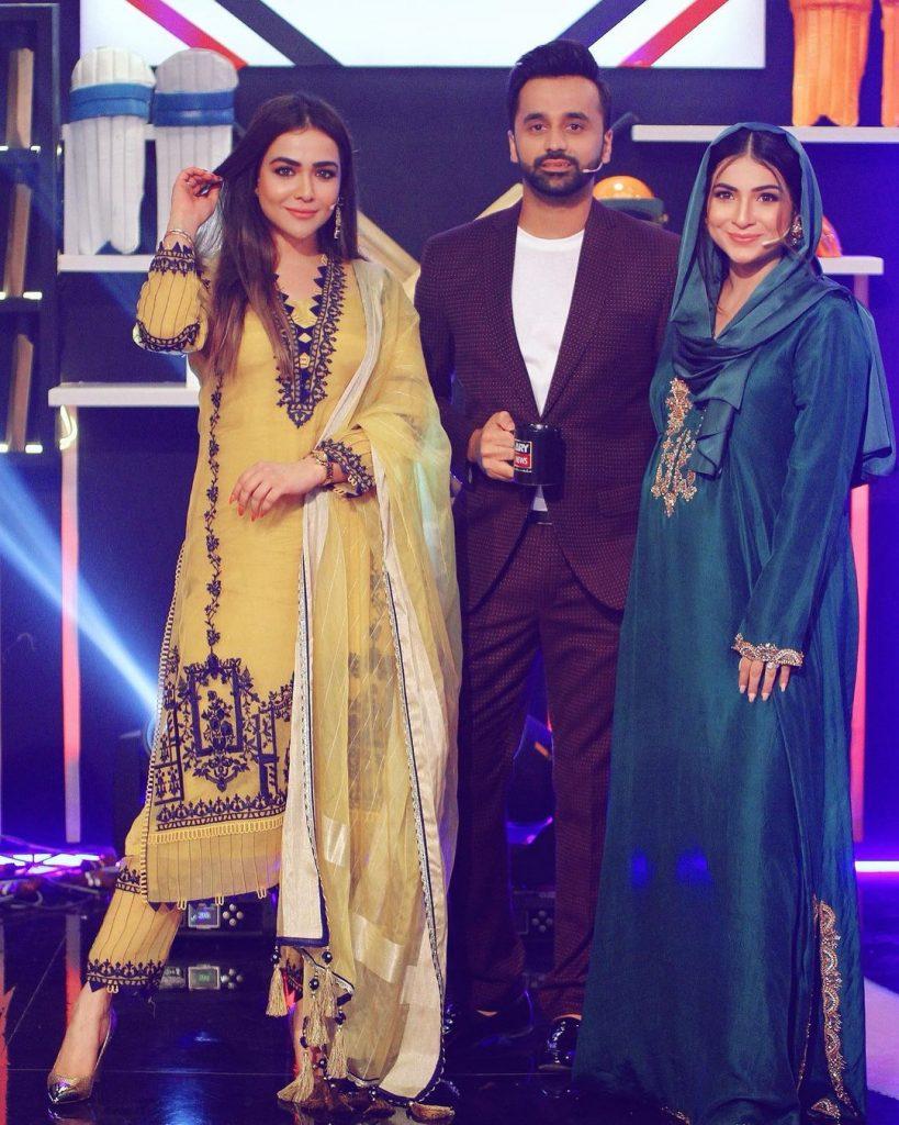 "Humaima Malik And Dua Malik At The Set Of ""Har Lamha Purjosh"""