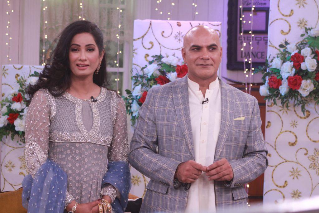 Jia Ali With Husband Imran Idrees At Good Morning Pakistan