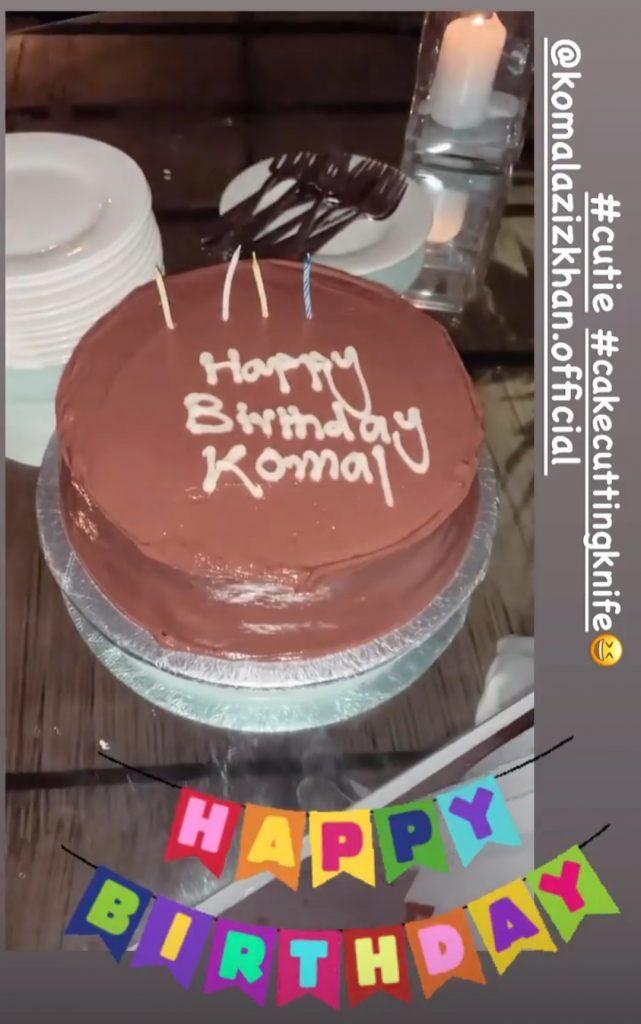 Komal Aziz Khan Celebrating Her Birthday With Friends
