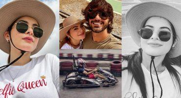 Minal Khan Accompanies Fiancé Ahsan Ikram On His Racing Adventure