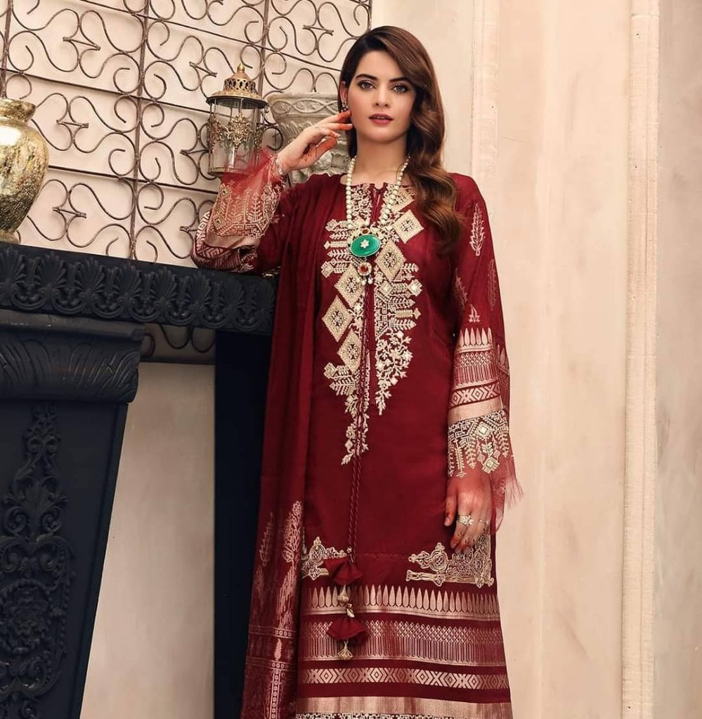 ELAF's Latest Festive Collection Featuring Minal Khan