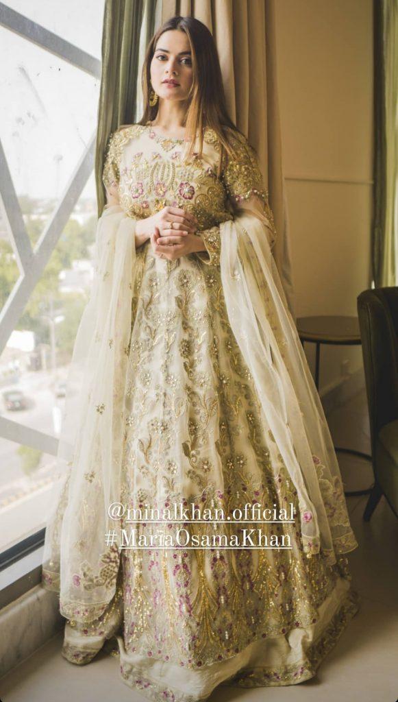Maria Osama Mystique Festive Collection Featuring Minal Khan