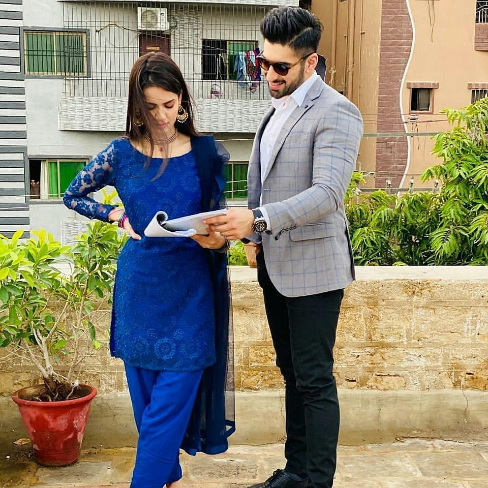 BTS Pictures From The Sets Of Drama Serial Mujhay Vida Kar