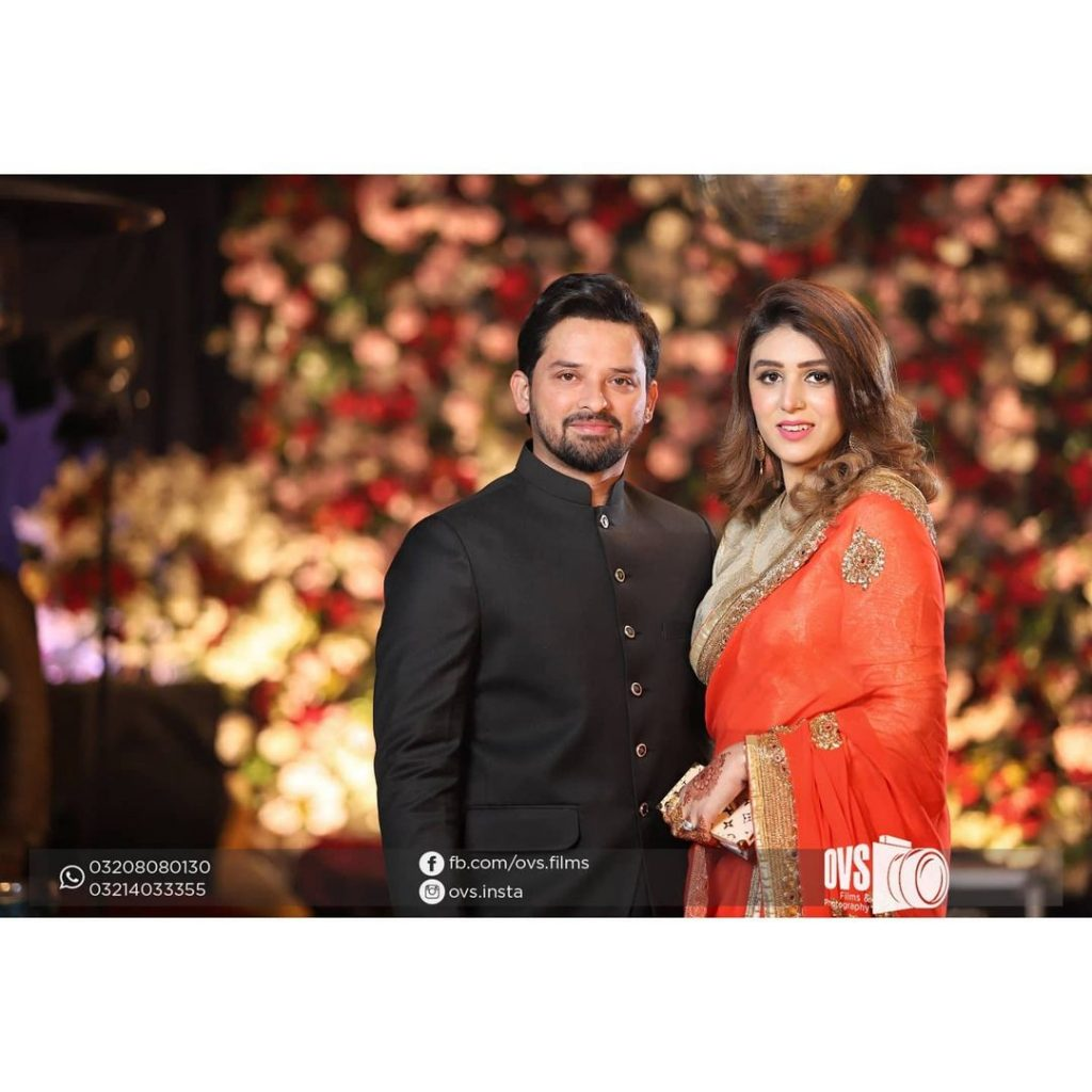 Noman Habib With His Wife At A Family Wedding